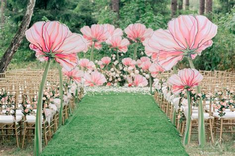 Unbelievably Beautiful Ceremony Decor Giant Painted