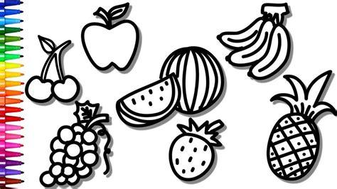 Desenhos Para Colorir Colorindo Frutas Uva Banana e
