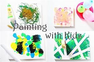 Malen Mit Kindern : 4 ideen zum malen mit kindern auf leinwand video mama kreativ ~ Orissabook.com Haus und Dekorationen