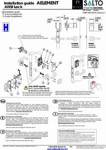 Salto Systems S L Ae9w Aelement Wireless Lock User Manual