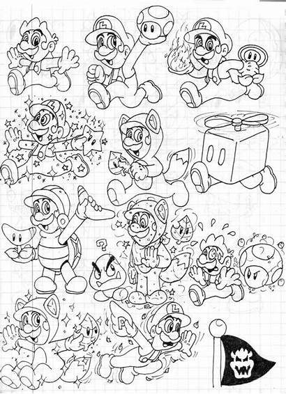 Mario Coloring Super 3d Pages Land Power