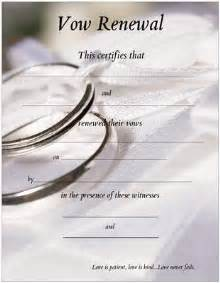 christian wedding program template vow renewal certificate with silver wedding bands