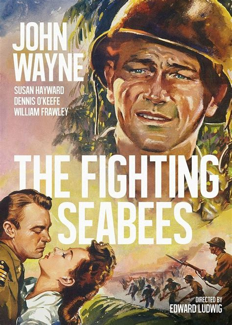 wayne john movie posters movies fighting war navy wwii seabees famous military classic western ii units action