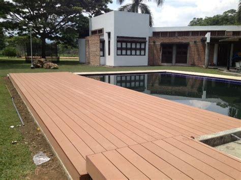 deck en madera plastica wpc plastic wood deck wpc