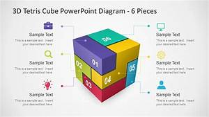 6 Pieces 3d Tetris Cube Powerpoint Diagram