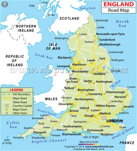 map  england travelquazcom
