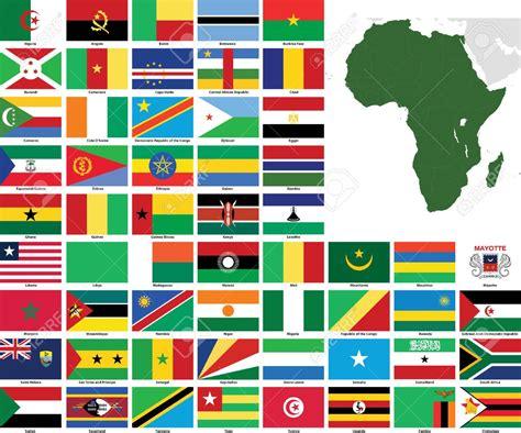 Ensemble Des Drapeaux Africains
