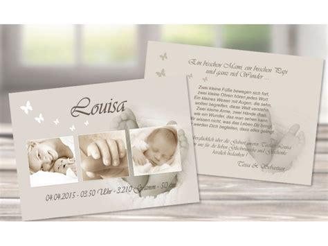 danksagungskarte geburt baby