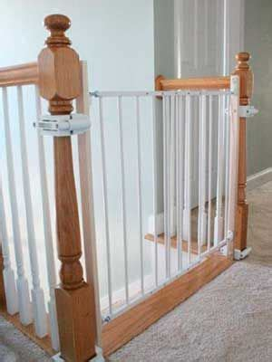 Baby Gates For Stairs With Banisters by Baby Proof Child Gate Without Drilling Into Banister