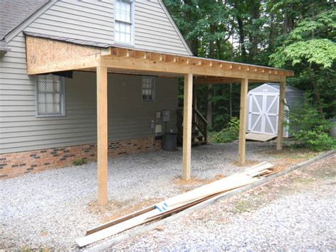 Lean To Car by Carport Additions Progress Photo Of Carport In