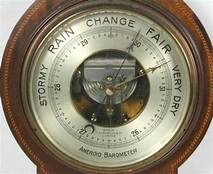 "English Aneroid Barometer, ""T.A. Reynolds & Co. London"""