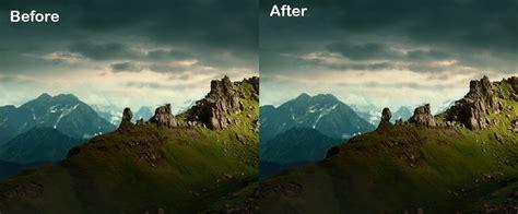 create  dramatic landscape  adobe photoshop