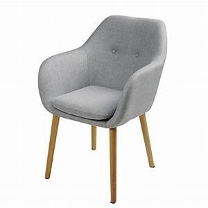 Fauteuil Maison Du Monde : fauteuil en polypropyl ne gris et ch ne arnold maisons du monde ~ Teatrodelosmanantiales.com Idées de Décoration