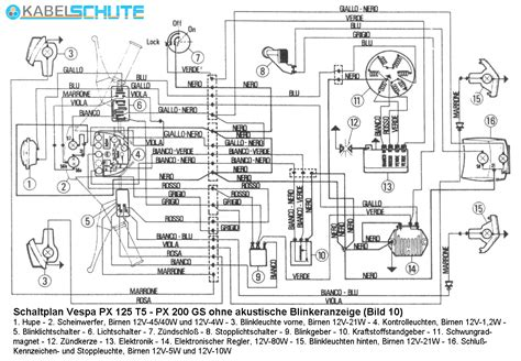 vespa px 200 wiring diagram 27 wiring diagram images