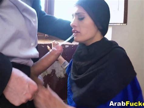 Broke Ass Arab Hijab Babe Fucking Huge White Western Cock