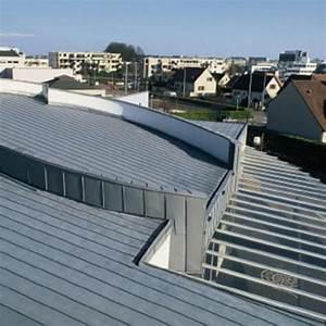 Système de toiture chaude en zinc prépatiné VMZ Toiture structurale VMZINC