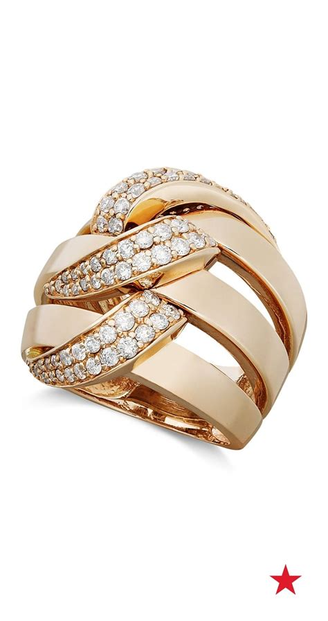 pave rose  effy diamond ring   total eye catcher