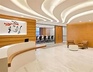 Lighting Office Reception Interior Design - Office Design ...