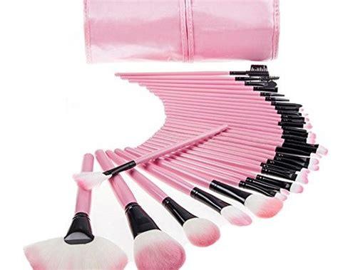 make up pinsel set mac keral 32 st 252 cke make up pinsel set mac profi kosmetik make up pinsel mit halter tasche pink