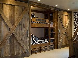 27 creative kids rooms with space savvy sliding barn doors With barn door loft bed