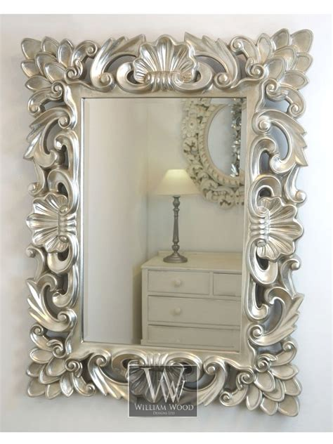 Diy Spiegel Verzieren by Details About Baroque Silver Vintage Rectangle Ornate Wall