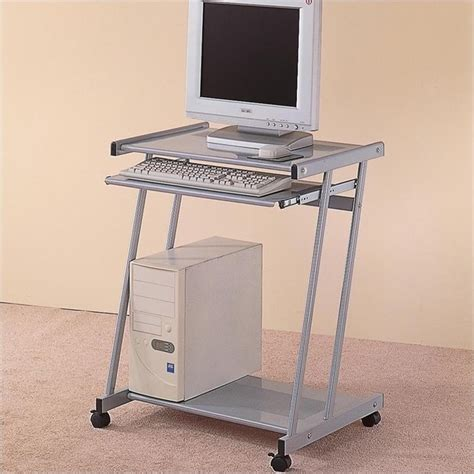Coaster Contemporary Computer Desk by Coaster Desks Contemporary Computer Desk Cart With