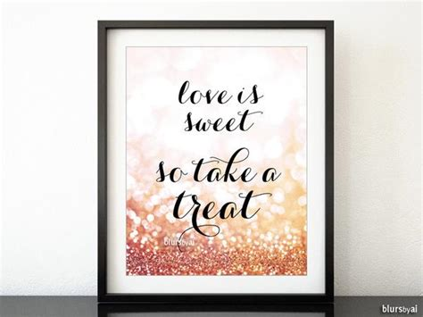 love  sweet    treat rose gold candy buffet sign