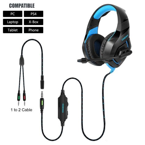 Headset H K By Mj Shop onikuma k1 ps4 gaming headset casque wired pc stereo