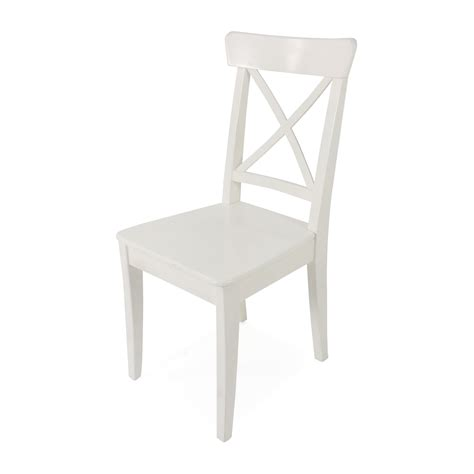 ikea ingolf white dining chair chairs