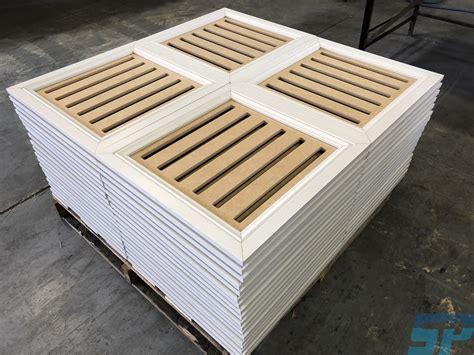 mdf decorative acoustic ceiling panels scandinavian profiles machining fabricating