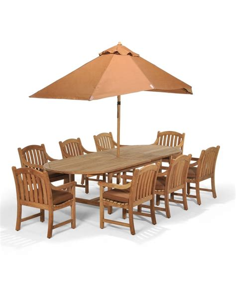 bristol teak outdoor patio furniture 9 dining set