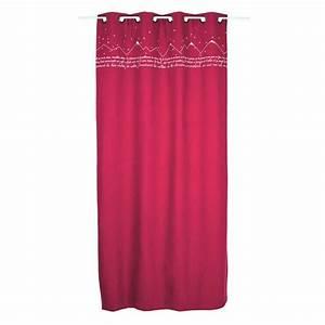 Rideau Occultant Thermique : rideau occultant thermique 135 x h250 cm sommets rouge ~ Premium-room.com Idées de Décoration