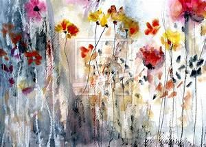 Aquarell Malen Blumen : malerei aquarell abstrakt blumen blumen malen aquarell ~ Articles-book.com Haus und Dekorationen