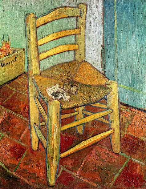 la chaise gogh vincent s chair 1888 painting by vincent gogh