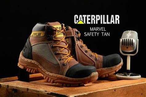 jual sepatu boots pria safety caterpillar marvel bahan