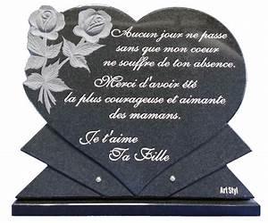 Texte pour plaque funeraire for Déco chambre bébé pas cher avec fleur en ceramique funeraire
