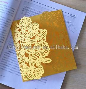 laser cut paper crafts colorful beach wedding invitations With yellow laser cut wedding invitations
