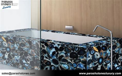 Semi precious Bathtub & Bathroom Vanity