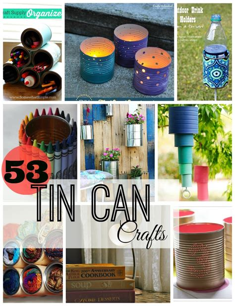 I thought they would make great canisters for the kitchen, and then thought they would be even greater as boxes for gifts, especially food gifts! 53 Tin Can Crafts - Do Small Things with Great Love