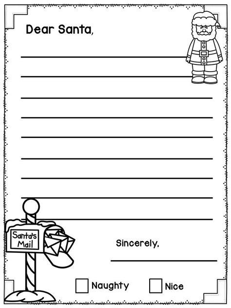 Dear Santa Template Kindergarten Letter by Best 25 Letter Writing Template Ideas On