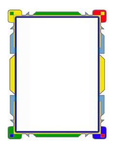 blue purple flowpoint border features abstract shapes