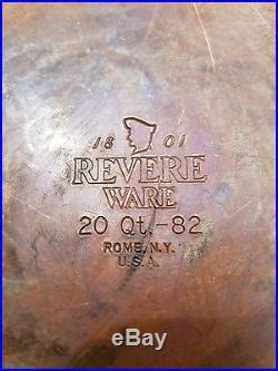 vintage revere ware  qt copper clad stainless steel stock pot rome ny stock pot stainless