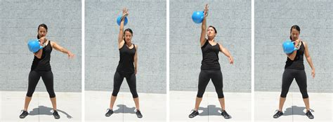 exercises kettlebell fat loss single press between body seconds sets