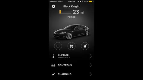 Tesla Car Apps by New Tesla Iphone Mobile App V 3 0