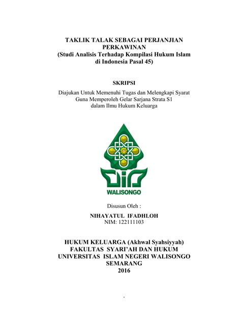 Nama umur pekerjaan alamat : Taklik Contoh Surat Perjanjian Cerai / Doc Contoh Surat Cerai Doc Muh Febriansyah Hakim Academia ...