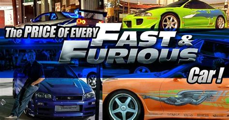 Check Out The Prices Of Your Favorite Fast And Furious Cars