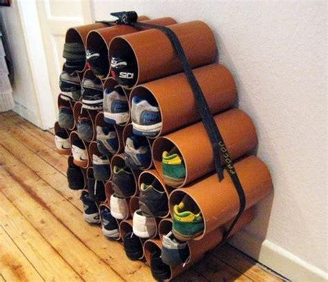 pvc shoe rack furniture impressive pvc shoe rack diy ideas and trend