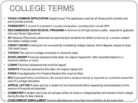 applytexas essays college terms