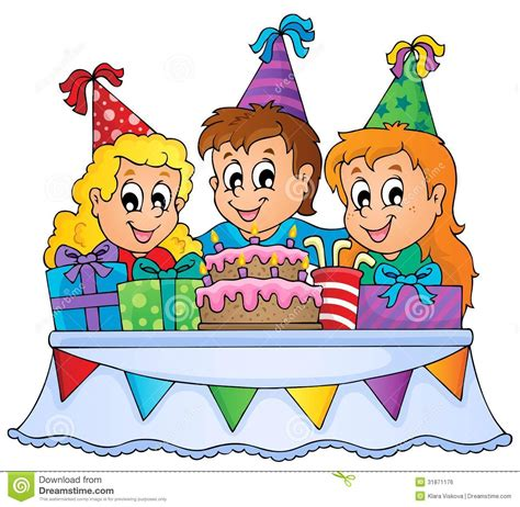 kids party theme image  royalty  stock image image