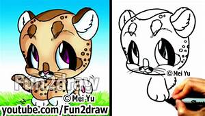 Cute Drawings - Baby Mountain Lion  Cougar